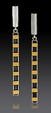 Furrow Dangles with Gold Bars by Lisa D'Agostino (Gold & Silver Earrings)