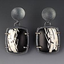 Art Deco Earrings by Jennifer Park (Enameled Earrings)