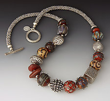 Race Point Terra Cotta Necklace by Dianne Zack (Beaded Necklace)