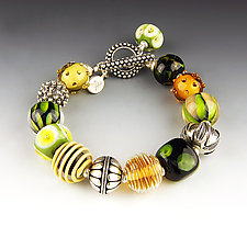 Daffodil Bracelet by Dianne Zack (Beaded Bracelet)