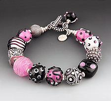 Pink Panda Bracelet by Dianne Zack (Beaded Bracelet)