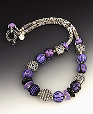 Purple Haze Necklace by Dianne Zack (Beaded Necklace)