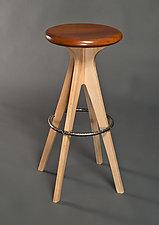 Classic Modern Stool by David Kellum (Wood Stool)
