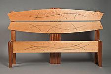 Queen Size Line Design Bed by David Kellum (Wood Bed)