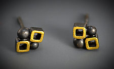 Bee Stud by Bethany Montana (Gold & Silver Earrings)