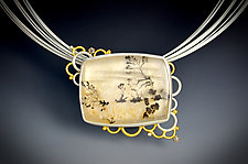 Beyond the Horizon Necklace by Bethany Montana (Gold, Silver & Stone Necklace)