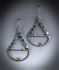 Scalloped Dangle Earring by Bethany Montana (Gold & Silver Earrings)