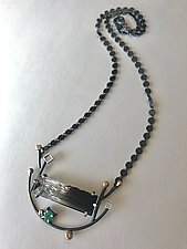 Emerald Ridge Necklace by Bethany Montana (Silver & Stone Necklace)