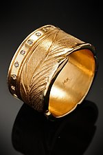 Leaf Band Ring by Rosario Garcia (Gold & Stone Ring)