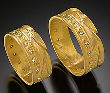 Wedding Bands by Rosario Garcia (Gold & Stone Wedding Band)