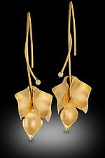 Flower Earrings by Rosario Garcia (Gold & Stone Earrings)