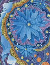 Blue Flower by Paul Bennett (Giclee Print)