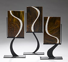 Three Dancers by Denise Bohart Brown (Art Glass Sculpture)
