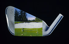 S Stands for Shovel by Michael Dupille (Art Glass Wall Sculpture)