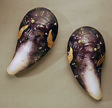 Grand Moules in Purple by Michael Dupille (Art Glass Wall Sculpture)