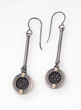 Stingray Striped Drop Earrings by Megan Clark (Gold & Silver Earrings)