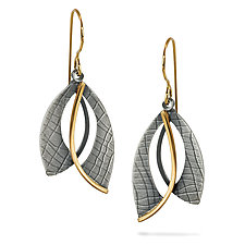 Double Layer Earrings by Megan Clark (Gold & Silver Earrings)