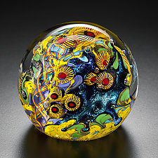 Canary Islands Paperweight by David Lindsay (Art Glass Paperweight)