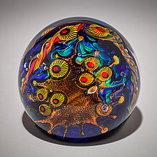 Undersea Adventures Paperweight by David Lindsay (Art Glass Paperweight)