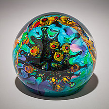 Beach Club Paperweight by David Lindsay (Art Glass Paperweight)