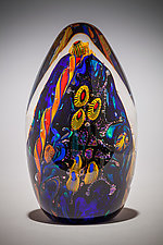 Undersea Adventures Egg Paperweight by David Lindsay (Art Glass Paperweight)
