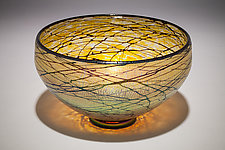 Gold Lustre Bowl by David Lindsay (Art Glass Bowl)