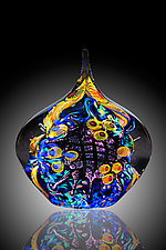 Undersea Adventures Royal Paperweight by David Lindsay (Art Glass Paperweight)