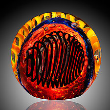 Coraline Paperweight by David Lindsay (Art Glass Paperweight)