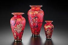 Phoenix Vase by David Lindsay (Art Glass Vase)