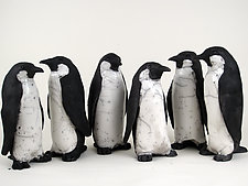 Penguins by Ronnie Gould (Ceramic Sculpture)