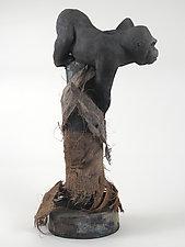 Gorilla by Ronnie Gould (Ceramic Sculpture)