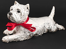 Westie by Ronnie Gould (Ceramic Sculpture)