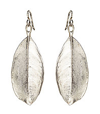 Laurel Leaf Earrings by Kimberlin Brown (Silver Earrings)