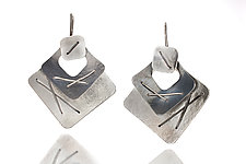 Three Piece Layered Earring by Suzanne Schwartz (Silver Earrings)