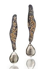 Tahitian Pearl Earrings by Suzanne Schwartz (Gold, Silver & Pearl Earrings)