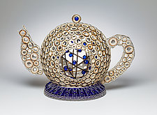 Tea with Edna by Charissa Brock (Fiber Sculpture)