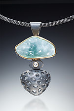 Pistachio Ice by Robin  Sulkes (Gold, Silver, & Stone Necklace)