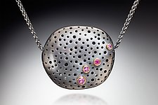 Skipping Stone by Robin  Sulkes (Gold, Silver & Stone Necklace)