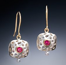 Lila by Robin  Sulkes (Gold, Silver & Stone Earrings)
