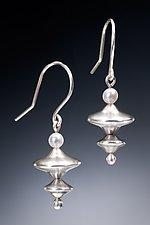 Double Saucer Earrings by Robin  Sulkes (Silver & Pearl Earrings)