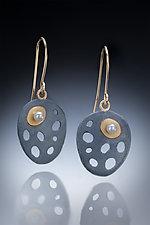 Lina Earrings by Robin  Sulkes (Gold, Silver & Pearl Earrings)