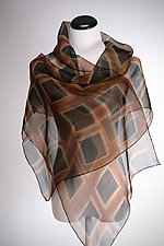 Black Squares Silk Wrap by Suzanne Bates (Silk Wrap)