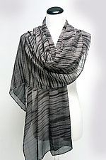Chiffon Waves Scarf by Suzanne Bates  (Silk Scarf)