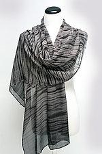 Chiffon Waves Scarf by Suzanne Bates (Silk Scarf)