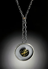 Dynasty Pendant by Grace Stokes (Polymer Clay & Silver Necklace)