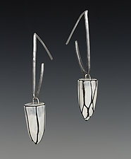 Stalactite Hoops by Lindsay Locatelli (Polymer Clay & Silver Earrings)