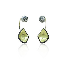 Reverse Hoops by Lindsay Locatelli (Gold, Silver & Polymer Clay Earrings)