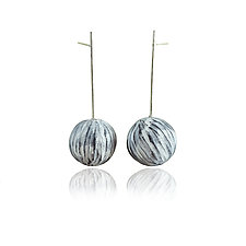 Single Balanced Earrings by Lindsay Locatelli (Silver & Polymer Earrings)