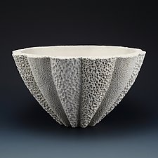 Felicity Coastal Collage Bowl by Judi Tavill (Ceramic Bowl)