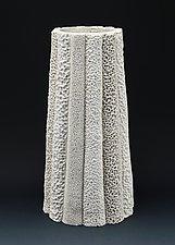 Ilese Column Coral Collage Vessel by Judi Tavill (Ceramic Vessel)
